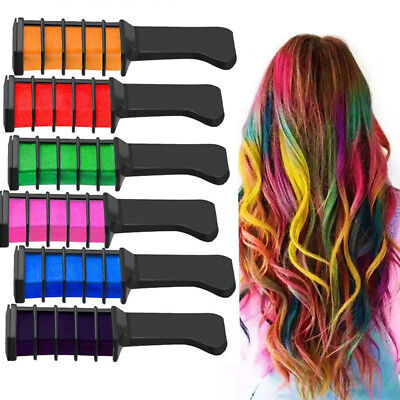 10 Color Temporary Hair Chalk Hair Color Comb Dye Salon Kits Party Fans Cosplay