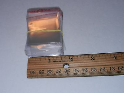 "self adhesive plastic bags 1 1/2"" by 1 1/2"" qty approx 175"