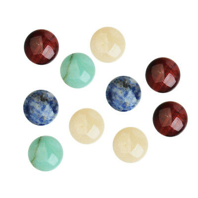 10pcs DIY Beads Personalized Gemstone Handcraft Beads Smooth Surface 8mm