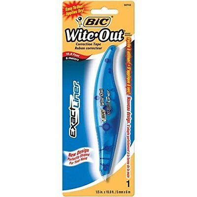Bic Woelp11-White White Exact Liner�� White Out�� Correction Tape