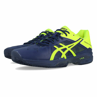 ASICS HOMMES GEL SOLUTION Speed 3 Clay Tennis Chaussures De Sport Baskets Bleu