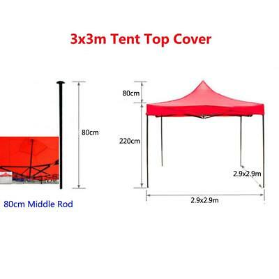 Sun Proof Garden Gazebo Top Cover Replacement Tent Canopy Oxford Blue 3x3m