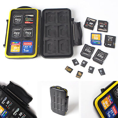 Micro Memory SD Card Storage Case Holder Anti-shock Portable Waterproof Wallet