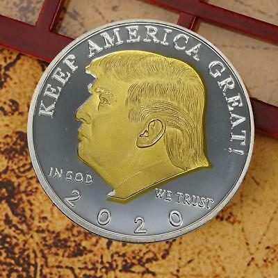 gold and silver Trump two-color eagle collection commemorative coin hot