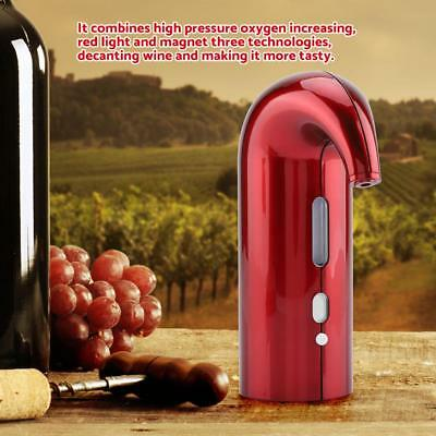 USB Smart Auto Wine Aerator Dispenser Decanter Pouring Pourer Rechargeable Red
