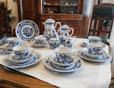 Hutschenreuther Maria Theresia Zwiebelmuster Kaffeeservice 22 Teile TOP
