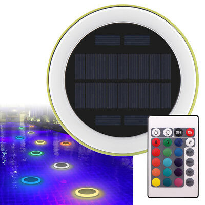 Solar RGB Swimming Pool Light 24 LED Floating Underwater lamp Remote Control