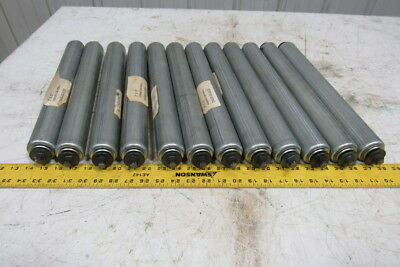"Galvanized Drop in Gravity Conveyor Roller 16"" Between Rails 2"" Diam Lot of 12"
