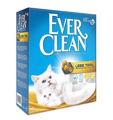 Ever Clean Clumping Cat Litter Less Trail Large Granule Long Hair Cats 10 Litre
