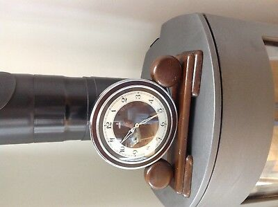 Large vintage metamec mech winding mantle clock wooden constructed surround 1950