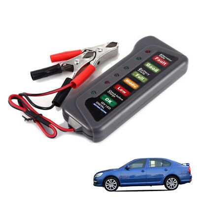 12V Car Digital Battery Alternator Tester 6 LED Light Display Diagnostic Tool