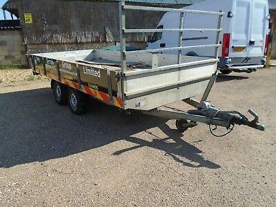 Trailer Drop Side. Alloy .twin Axle 4 Wheel.. Spares Or Repairs. Tow Away Ok