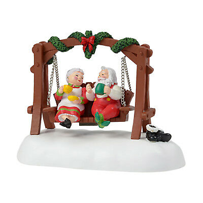 Dept 56 Christmas Snow Village Animated Swing Santa & Mrs Claus New 2018 6001687