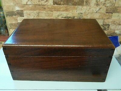 antique tongue and groove mahogany box.
