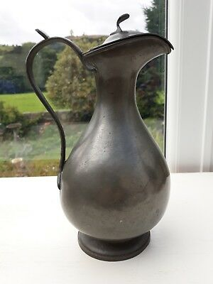 Victorian Antique Pewter Claret Jug