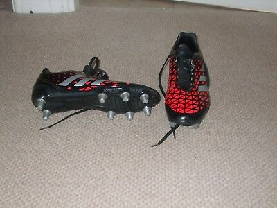 Adidas Rugby Boots Size 8.5 - Red and Black