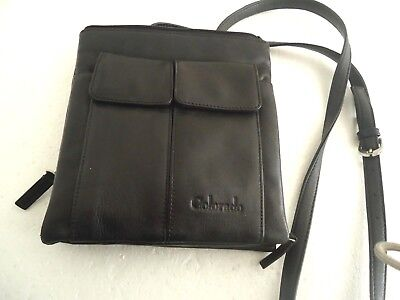 Colorado - Leather Crossbody Messenger Small Bag - As New - Used Once !