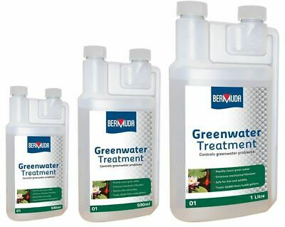 Bermuda Greenwater Pond Algae Treatment Clears Green Cloudy Water