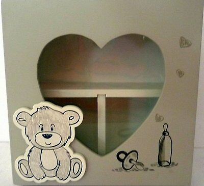 Baby Gift Teddy Bear Design Trinket Box With Photo Frame Nursery Bedroom Decor