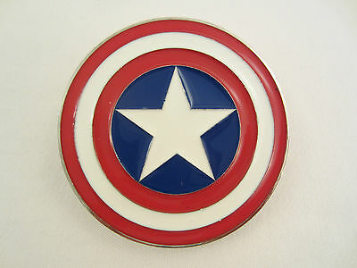 Captain America Gürtelschnalle Schild Logo Shield Belt Buckle Comic Stern Star