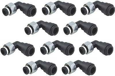 """10 x Beer Outlet Elbow Female Connector OD Tube BSP(P) Thread 15mm x 1/2"""" (BZ)"""