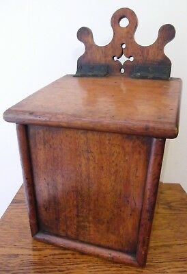 A RARE LARGE ANTIQUE CARVED OAK 19th CENTURY GOTHIC CHURCH CANDLE BOX