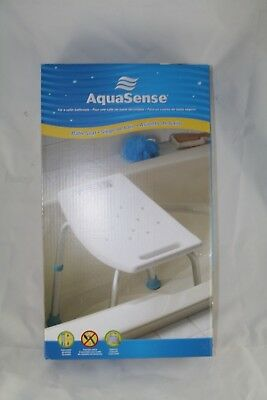 Aquasense Bath Shower Chair With Non Slip Seat Aqua Sense White 300 Lb Cap
