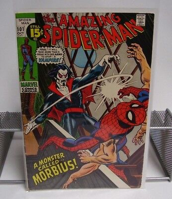 The Amazing Spider-Man A Monster Called Morbius! No.101 Oct Marvel Comics