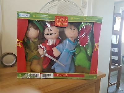 Tellatale Hand Puppets Set - Peter Pan by Fiesta Crafts 3y+ - DAMAGED BOX