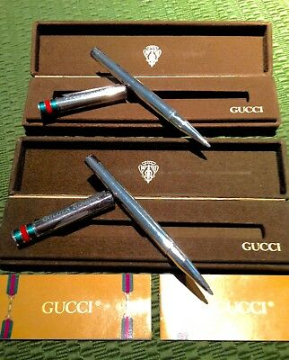 Sterling Gucci Pen w/Box & Warranty, 1970's Golden Nugget High Roller Gift