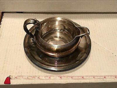 Vintage Reed & Barton #100 Silverplate Gravy Boat with Underplate