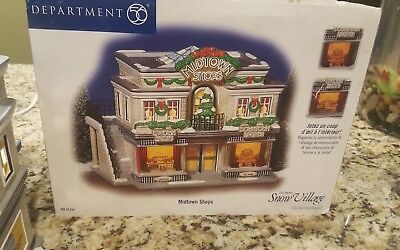 Retired Snow Village Collectible Department 56 Midtown Shops Christmas House