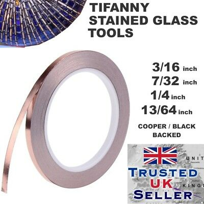 Stained Glass Supplies Copper Foil foils Copper/black Backed 4.8mm / 5.2mm x33m