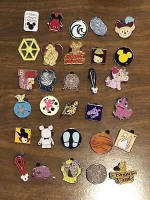 Disney Trading Pin Lot - 30 Pins - *As seen in photos! FREE SHIPPING No Doubles