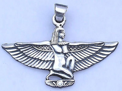 Isis Silver Pendant (Hallmarked)(with open arms)