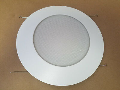 "6 Pack 6"" Inch Recessed Can Light Shower Trim Frosted Glass Albalite Lens"
