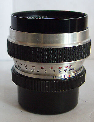 Carl Zeiss Jena 4/100 Cardinar Tele lens for the Werra rangefinder cameras