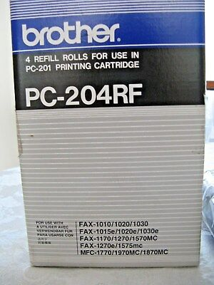 Brother PC-204-RF 4 Refill Rolls For use in PC-201 Printing Cartridge