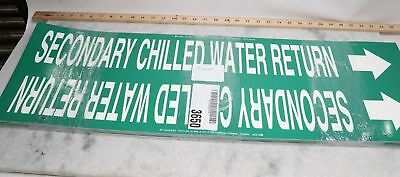 "Lot of 31 Pipe Marker, Secondary Chilled Water Return, 10"" X 32"""