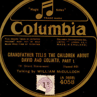 WILLIAM McCULLOCH -TALKING- Grandfather tells ... about David & Goliath    S9926
