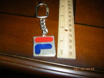 FILA KEY CHAIN SOLID BRASS VINTAGE 1980s FILA GOLD RED BLUE SOLID BRASS EDC