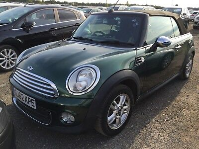 62 Mini Cooper One 1.6 Convertible Climate **low Miles** Cat C *roof Not Working