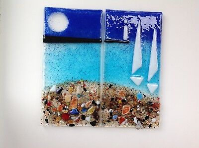 Decorative fused two  glass panels