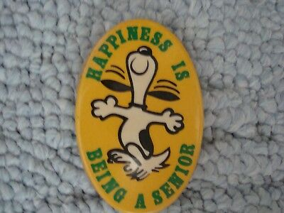 Collectible Vintage Snoopy Peanuts Happiness Is Being A Senior 168