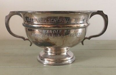 Vintage large silver plate trophy, loving cup, trophies, Wardle, Manchester