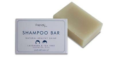 Friendly Soap Fragrance Free Lavender and Tea Tree Oil Shampoo Bar 95g