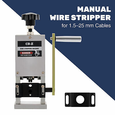 Scrap Cable Stripper Manual Portable Wire Stripping Machine Hand Crank Drill