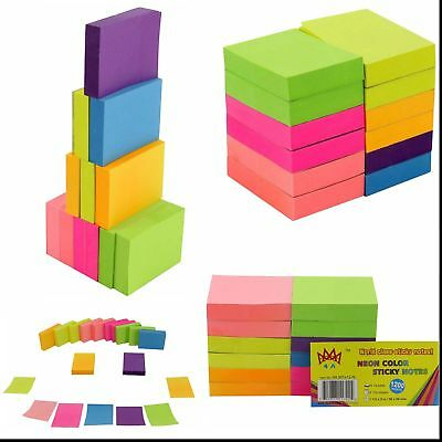 Post-It Neon Color Sticky Notes 1200 Pop Up Memo Reminder 12 Pads 100 Sheets New