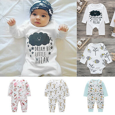 Newborn Toddler Baby Child Boys Girls Infant Romper Jumpsuit Bodysuit Outfit Set