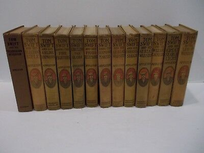 Vintage Lot of 13 Tom Swift Books Appleton Hardcover 1911-1933